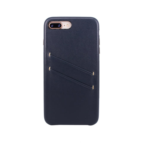 Leather Card slot case for iPhone 7 Plus / iPhone 8 Plus, Navy