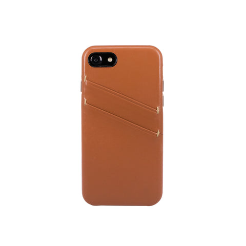 Leather Card slot case for iPhone 7 / iPhone 8, Brown
