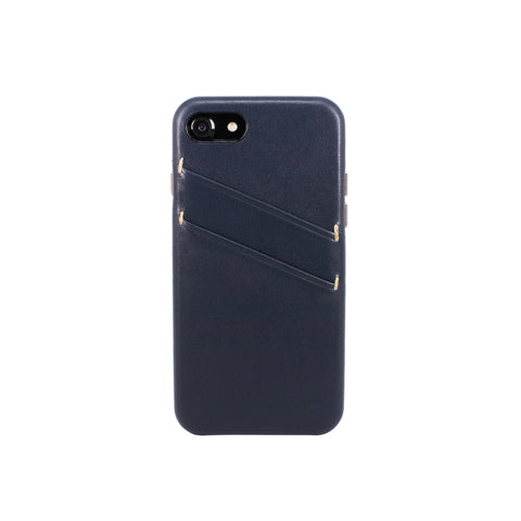 Leather Card slot case for iPhone 7 / iPhone 8, Navy