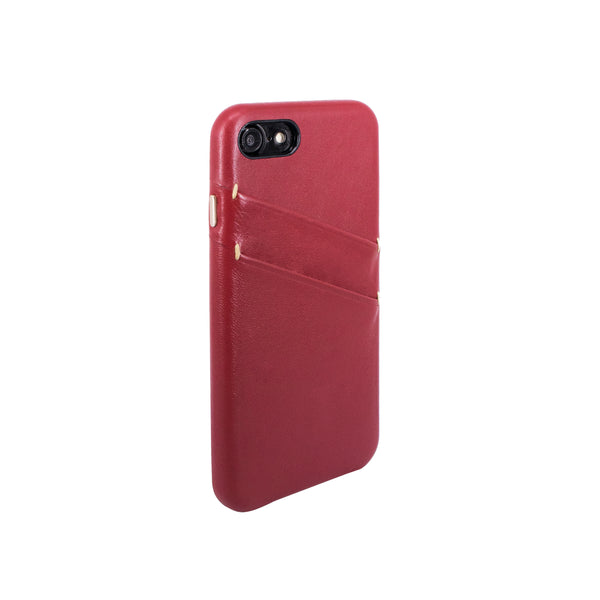 Leather Card slot case for iPhone 7 / iPhone 8, Raisin