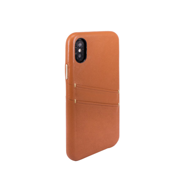 Leather Card slot case for iPhone X, Brown