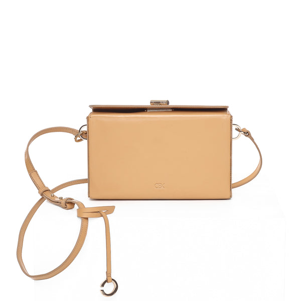Boxy Shoulder Bag, Nude