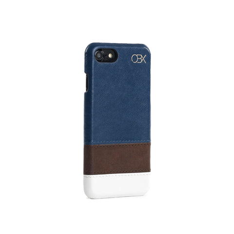 Striped Leather Case for iPhone 7, Calm