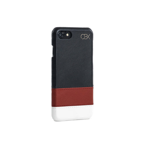 Striped Leather Case for iPhone 7, Warmth