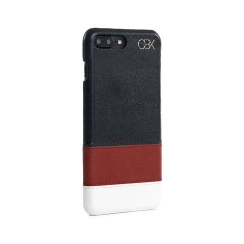 Striped Leather Case for iPhone 7 Plus, Warmth