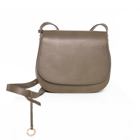 Multi-Gussets Saddle Bag, Dark Green