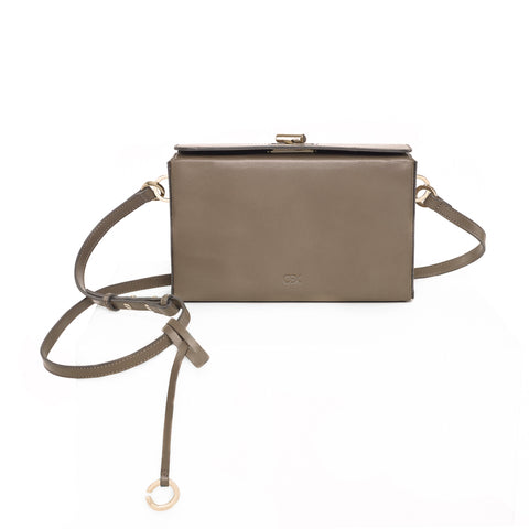 Boxy Shoulder Bag, Dark Green
