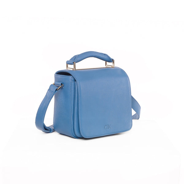 Small Flap Crossbody Bag, Jeans Blue