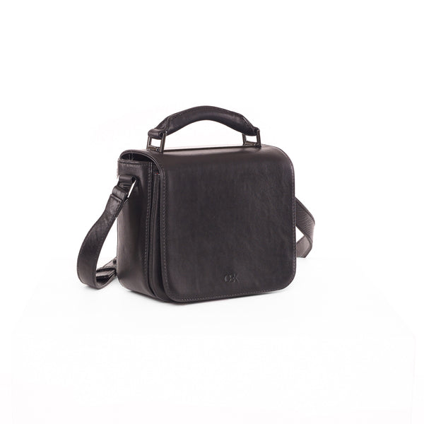 Small Flap Crossbody Bag, Black