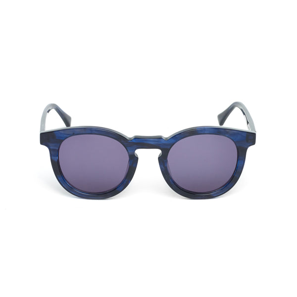 Tortoiseshell Acetate Sunglasses, Blue Night
