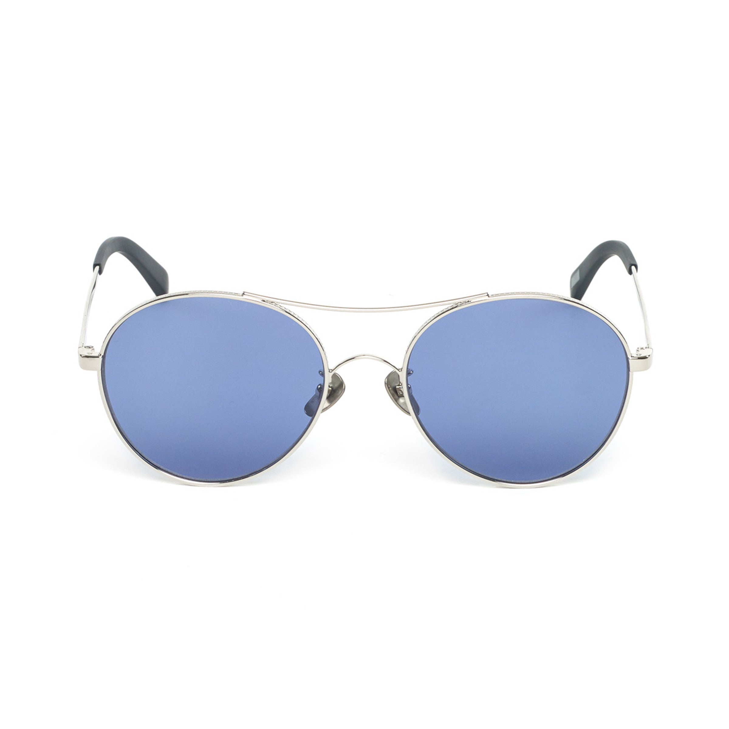 Azzure Silvers: Rounded Aviator-style Sunglasses, Silver Azure