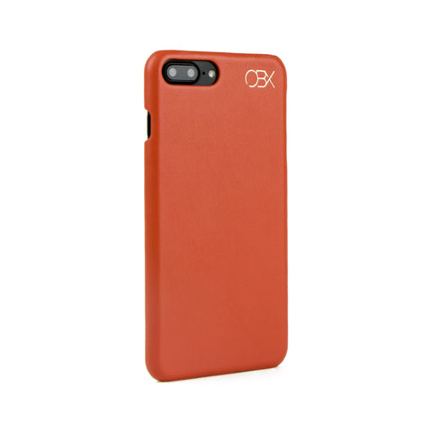 Italian Leather Case for iPhone 7 Plus, Burnt Orange