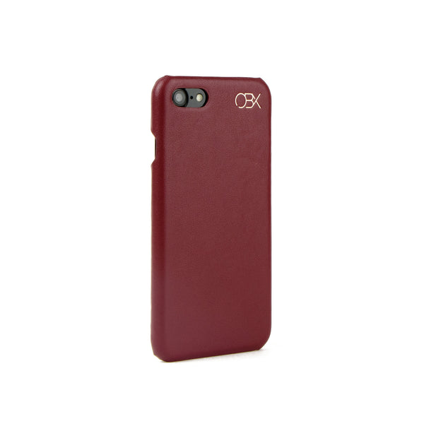 Italian Leather Case for iPhone 7, Raisin