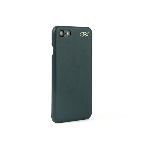 Italian Leather Case for iPhone 7, Kale