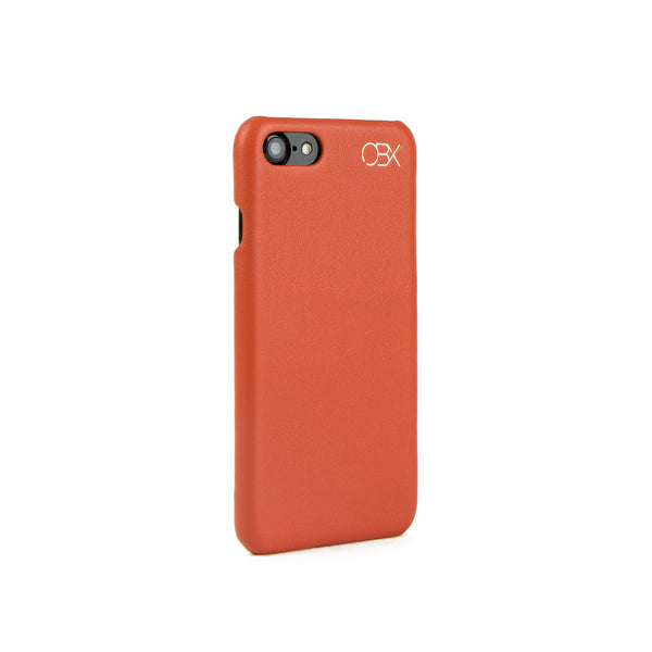 Italian Leather Case for iPhone 7, Burnt Orange