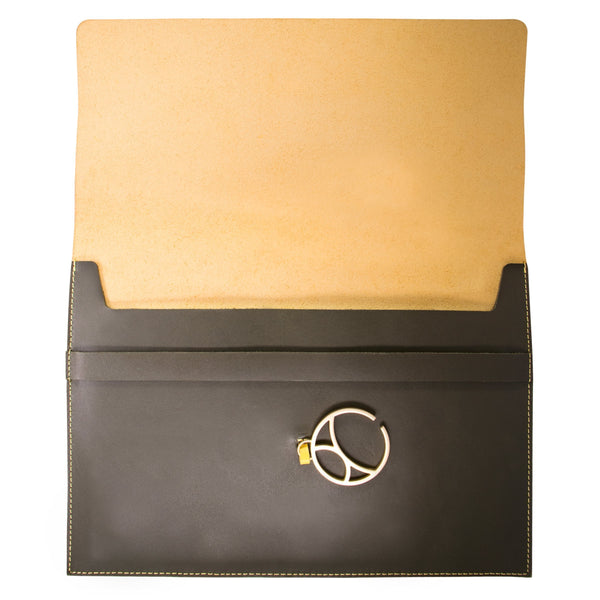 "10"" Tablet sleeve with charm, Yellow / Green"