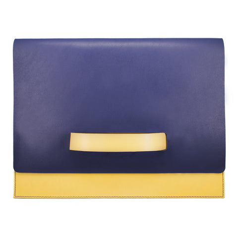"10"" Tablet sleeve with handle, Blue / Yellow"