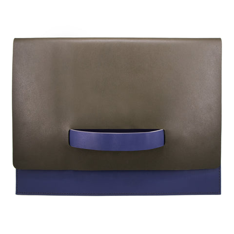 "10"" Tablet sleeve with handle, Green / Blue"