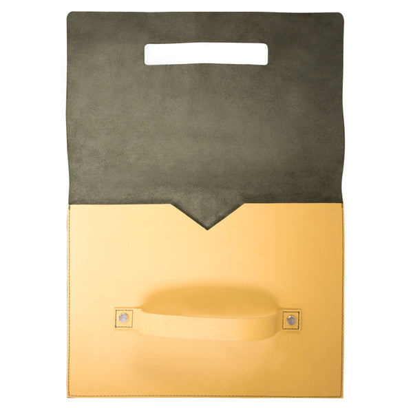"10"" Tablet sleeve with handle, Green / Yellow"