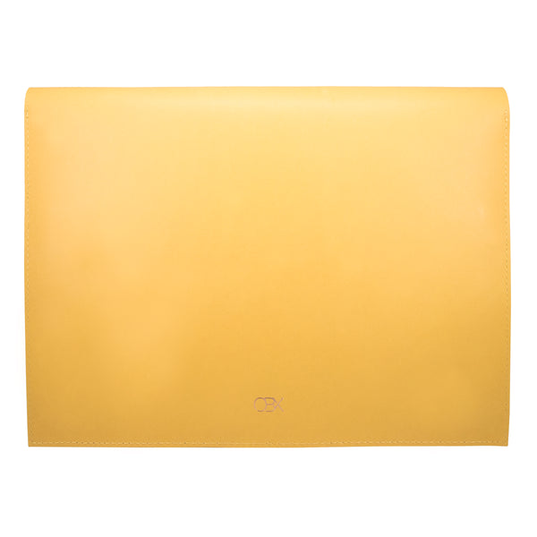 "10"" Tablet sleeve with handle, Yellow / Brown"