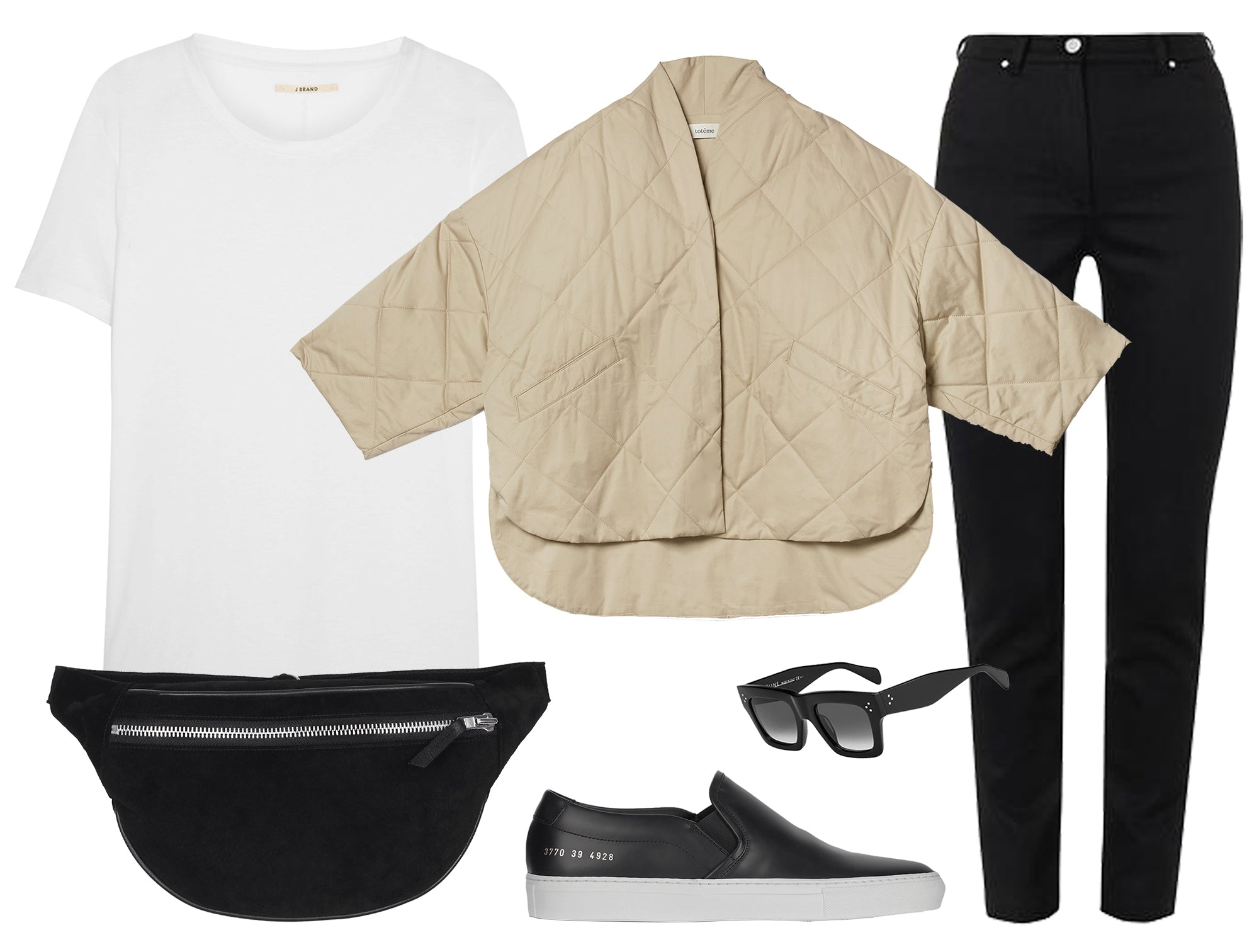 scandinavian minimalist bumbag fanny pack spring outfit