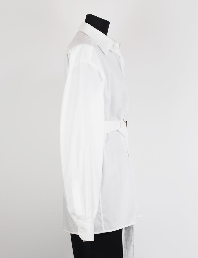 BELTED WHITE SHIRT - CHRISTINA FISCHER