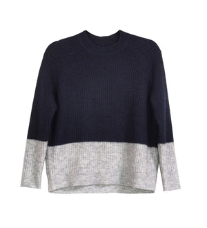 COLOR BLOCKING WOOL SWEATER