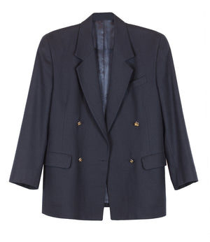 DOUBLE BREASTED BURBERRY BLAZER - CHRISTINA FISCHER