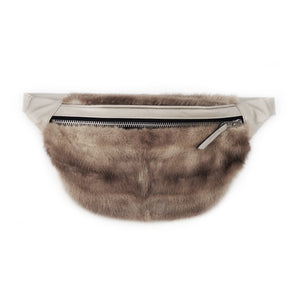 ONE OF A KIND BEIGE FUR BUM BAG - CHRISTINA FISCHER