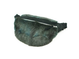 ONE OF A KIND GREEN FUR BUM BAG - CHRISTINA FISCHER