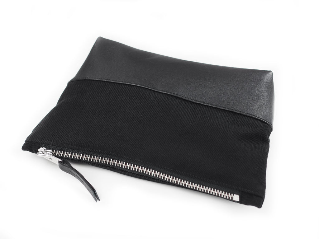 LEATHER / DENIM CLUTCH - CHRISTINA FISCHER