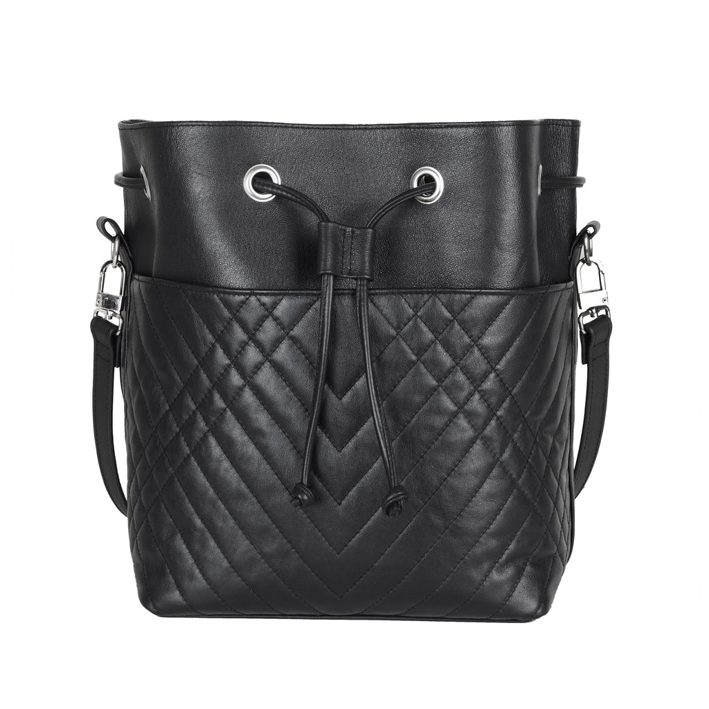 QUILTED BUCKET BAG - CHRISTINA FISCHER