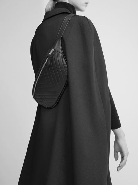 SUSTAINABLE FASHION MADE FROM RECYCLED LEATHER CROSS BODY Fannypack QUILTED BUM BAG - CHRISTINA FISCHER