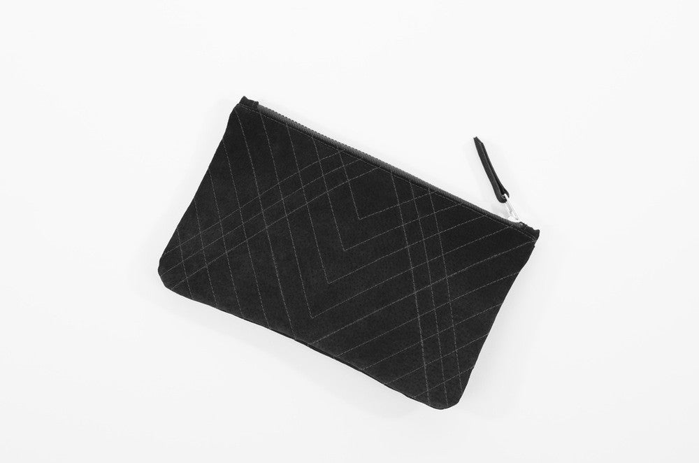 QUILTED SUEDE CLUTCH - CHRISTINA FISCHER