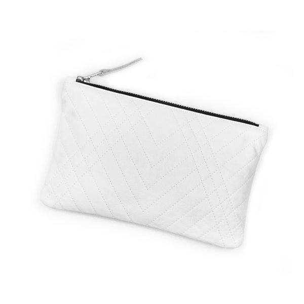 SUSTAINABLE FASHION MADE FROM RECYCLED LEATHER LIMITED EDITION QUILTED CLUTCH - CHRISTINA FISCHER