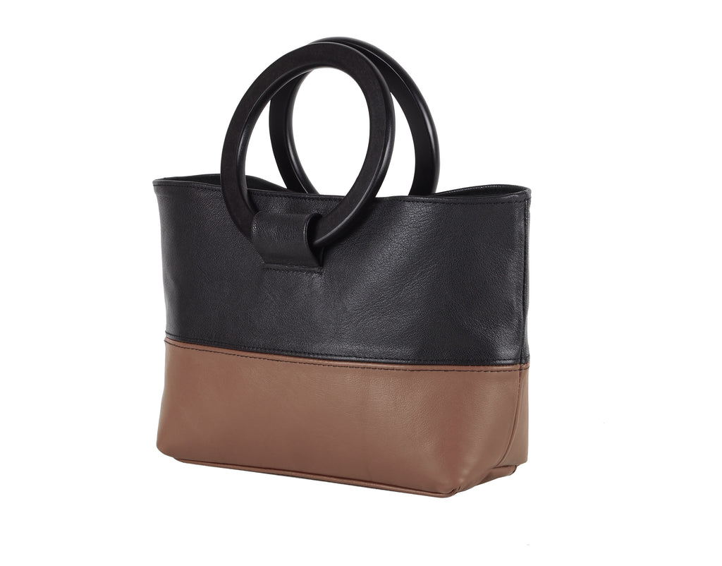 HANDBAG WITH ROUND HANDLES - CHRISTINA FISCHER