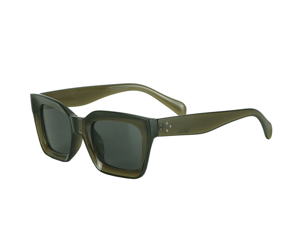 DARK GREEN SQUARE SUNGLASSES - CHRISTINA FISCHER