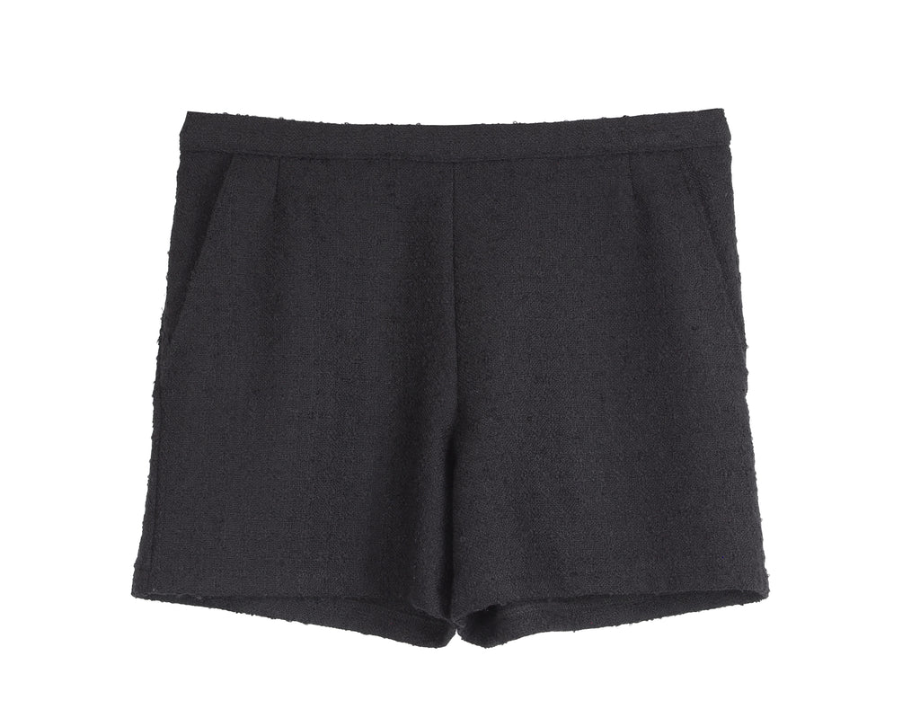 HIGH WAIST BOUCLÉ SHORTS