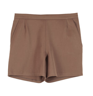 HIGH WAIST WOOL SHORTS