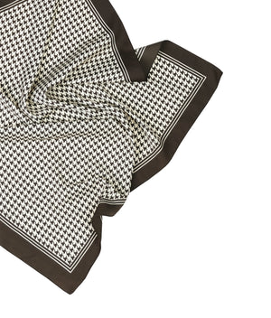 HOUNDSTOOTH BANDANA WITH EYELET