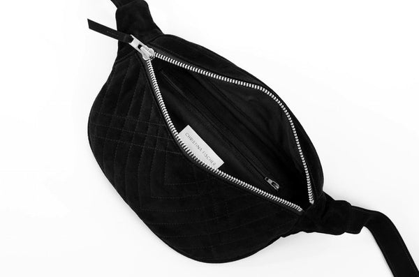 LIMITED EDITION QUILTED SUEDE BUM BAG - CHRISTINA FISCHER