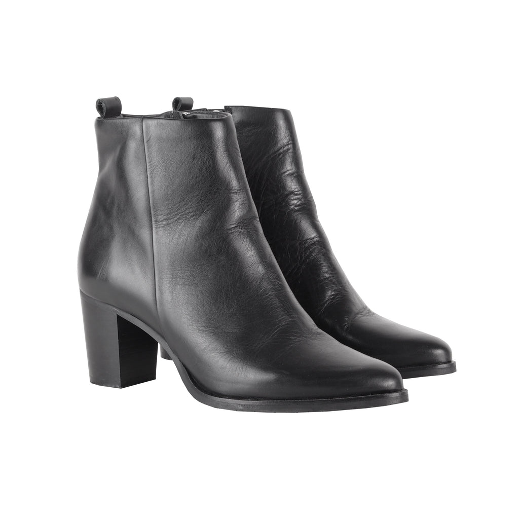 HEELED LEATHER BOOTS - CHRISTINA FISCHER