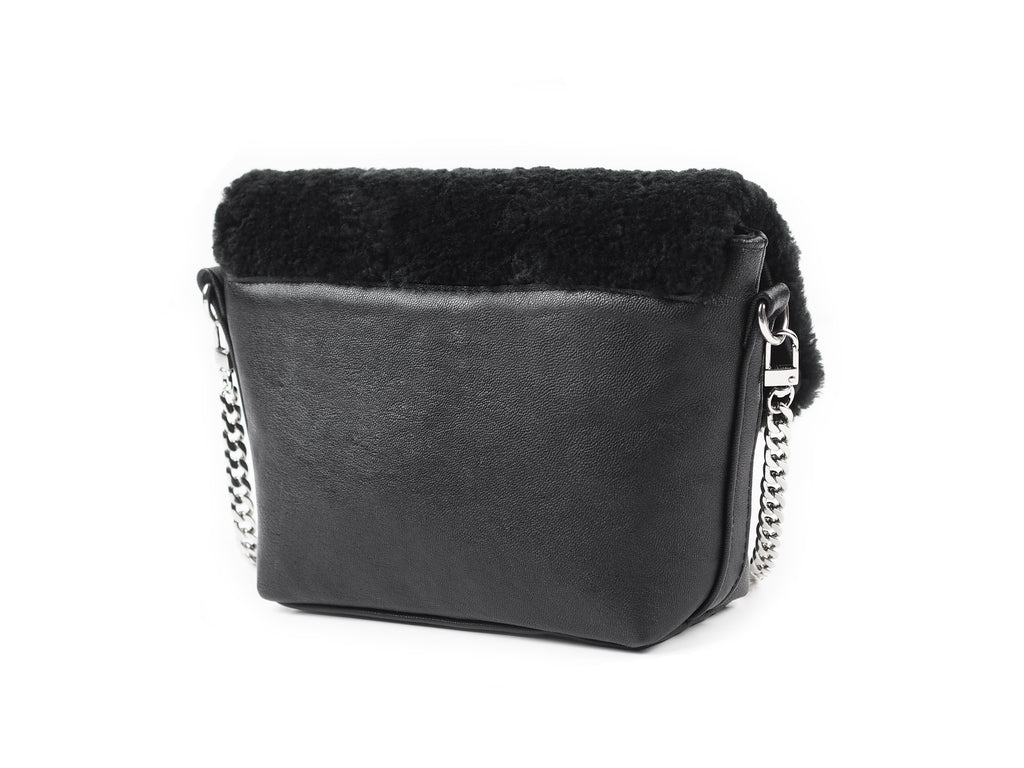 SHEARLING FLAP BAG - CHRISTINA FISCHER