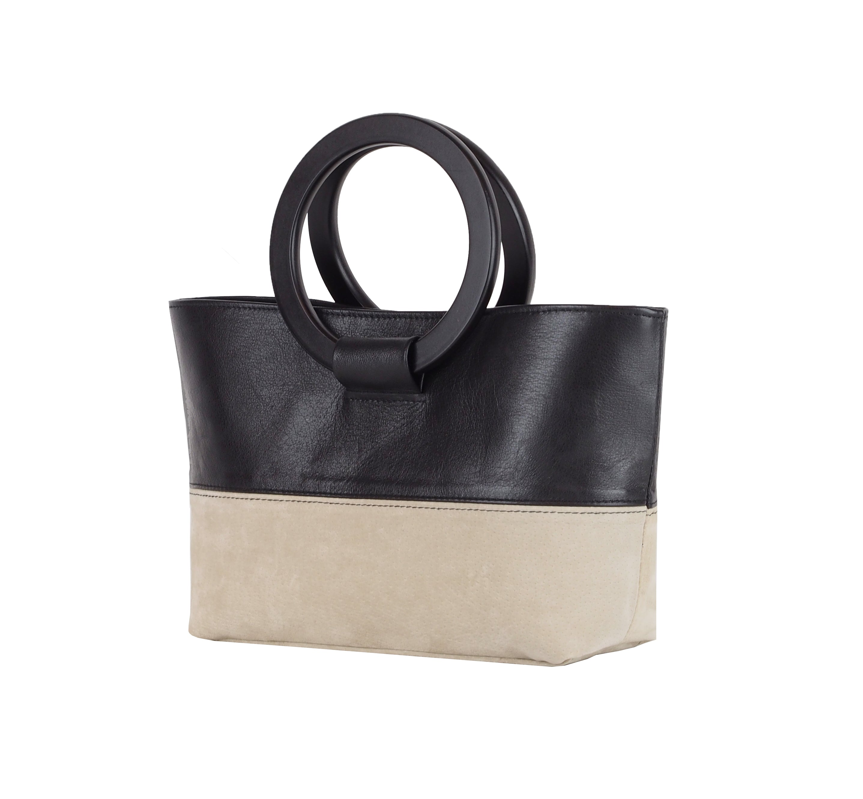 HANDBAG WITH ROUND HANDLES