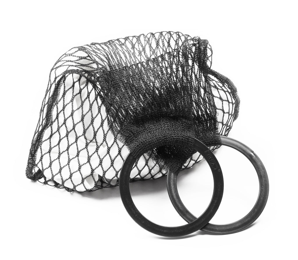 WOVEN NET BAG WITH ROUND HANDLES - CHRISTINA FISCHER