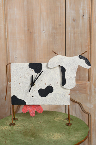 Horloge Vache Table