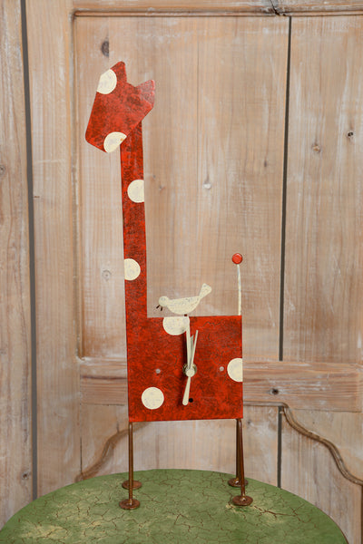 Horloge Girafe Table