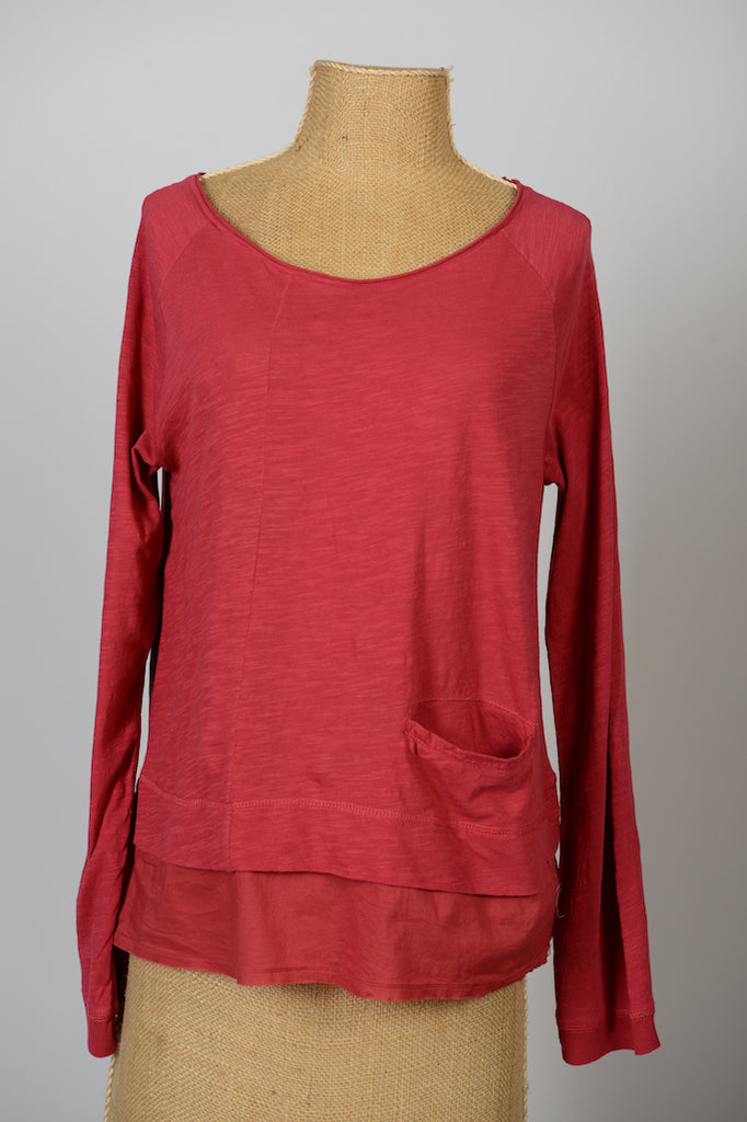 Tee Shirt EWA I WALLA - Raspberry Red