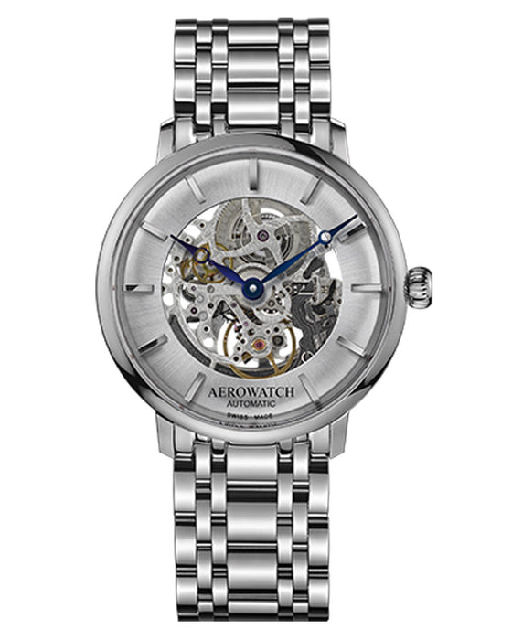 Aerowatch Heritage Slim Skeleton 67975 AA01 SQ M