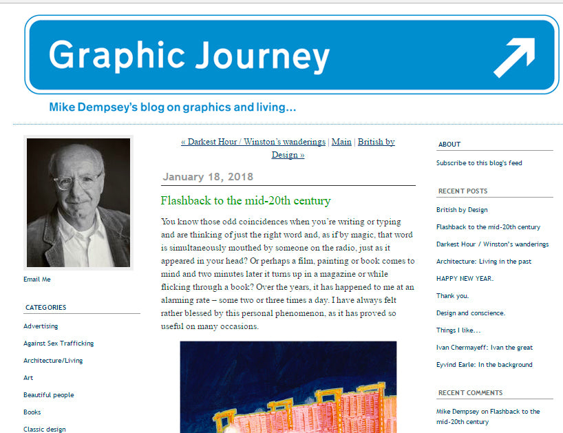 Graphic Journey Blog article by Mike Dempsey